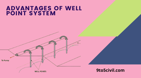 ADVANTAGES OF WELL POINT SYSTEM