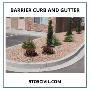 Barrier Curb and Gutter