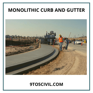 Monolithic Curb and Gutter