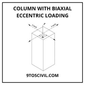 Column with Biaxial Eccentric Loading